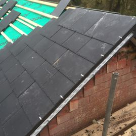 New slatted roof, roof repair